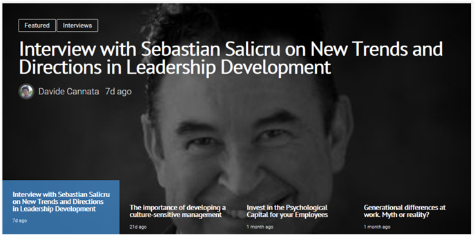 New Trends and Directions in Leadership Development – Interview with Sebastian Salicru